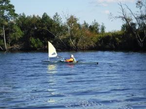 a sailing kayak!