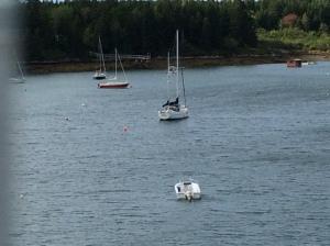 Almost empty harbor at Sebasco Resort