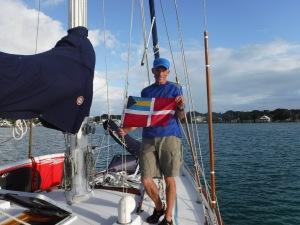 Raising the Bahamas Courtesy flag