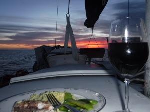 First dinner in the Bahamas.  Delicious Dorado
