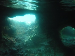 Two of the underwater tunnels