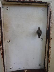 Mini door to the viewing deck.  Love that handle!