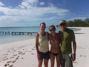Enjoying the only sunny day of Lindsay's visit at Hamburg Beach