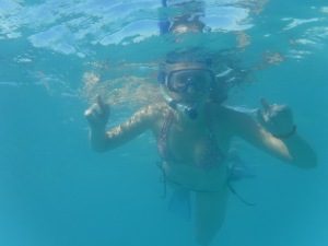 Lindsay snorkeling