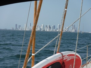 This wasn't what we expected as we approached Cartagena.  It was so modern!