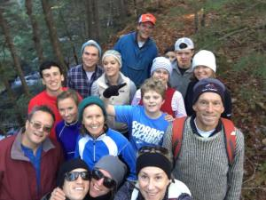 Crazy bunch on a hike to Onset