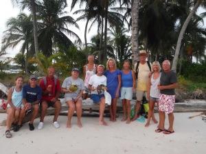 Cruisers from Beyzano, Balance, Horizons, Lady Elaine, Black ___, and Alembic enjoying an island at Snug Harbor