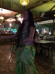 One of the many belly dancers!