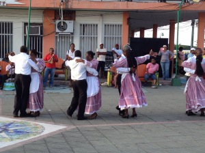 Locals dancing performance at our welcoming party