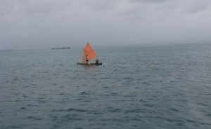 We saw a lot of Gunas hiking out while sailing