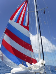 Used our Drifter for the first time ever.  Perfect downwind, light air sail.