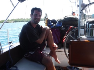 James, our British stow away, for our sail to Roatan