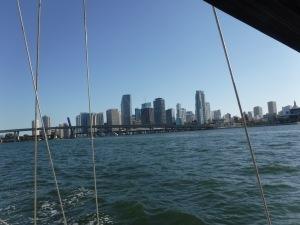 The familiar cityscape of Miami