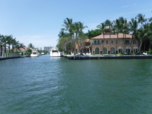 Many wealthy boaters flock to the canals of Ft Lauderdale to build their castles