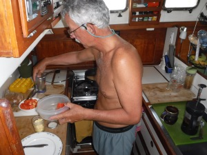 George takes over the galley