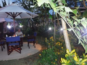 Our last meal was at Guana Limb with lovely gardens