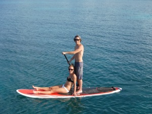They paddled every morning