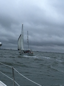 Wild winds up Delaware Bay.  Photo was taken by Dwayne on Foreign Affair