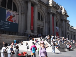 Like fish out of water, here we are at the Metropolitan Museum of Art NYC!