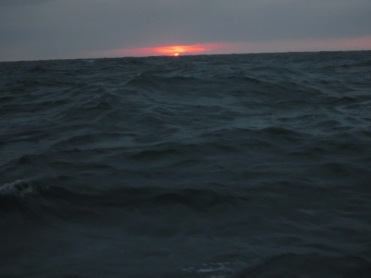 Rolly seas gave us the chance to see a double Green Flash