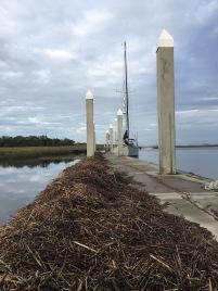Sisters Creek free dock with Matthew debris