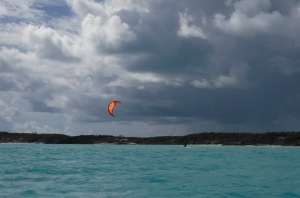 Our Canadian friends Mattieu and Chantal were expert kite surfers at Normans Cay